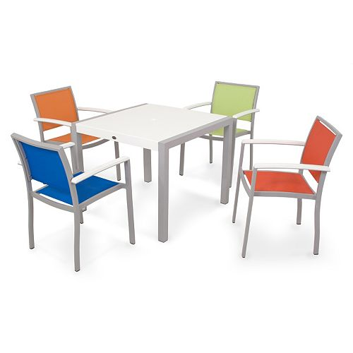 POLYWOOD® 5-pc. Bayline Dining Table & Chair Set - Outdoor