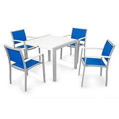 POLYWOOD® 5 pc Bayline Dining Table & Chair Set - Outdoor