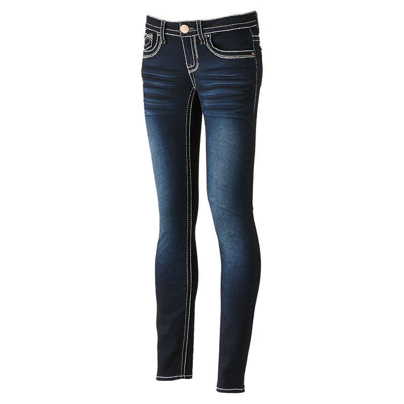 Hydraulic Super Skinny Jeans - Juniors (Blue)