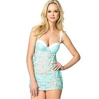 Jezebel Rachel Lace Chemise and G-String Lingerie Set 999910