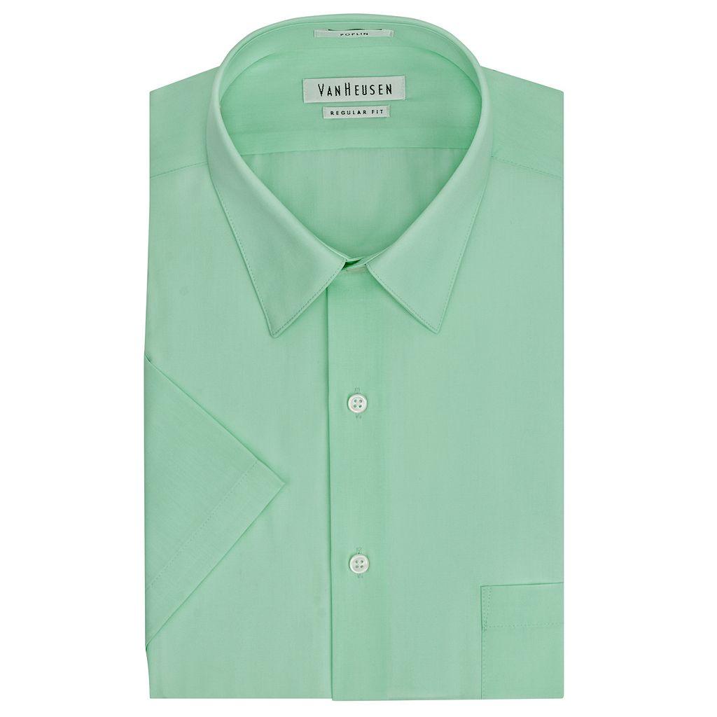 Men's Van Heusen Regular-Fit Poplin Easy-Care Point-Collar Dress Shirt
