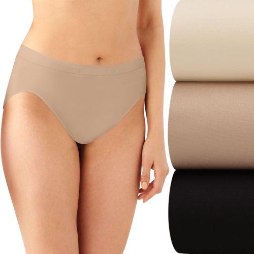 Bali Comfort Revolution 3-pk. Seamless Hi-Cut Briefs - Women's