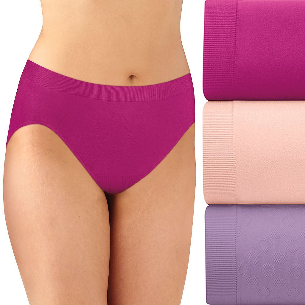 Bali 3-pk. Comfort Revolution Seamless Hi-Cut Briefs AK83