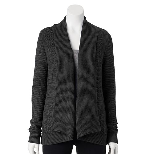 Women's Croft & Barrow® Textured Open-Front Cardigan