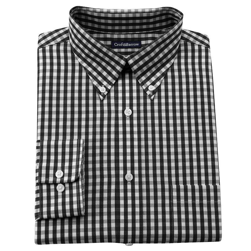 Mens gingham dress shirt kohl 39 s for Men s red gingham dress shirt