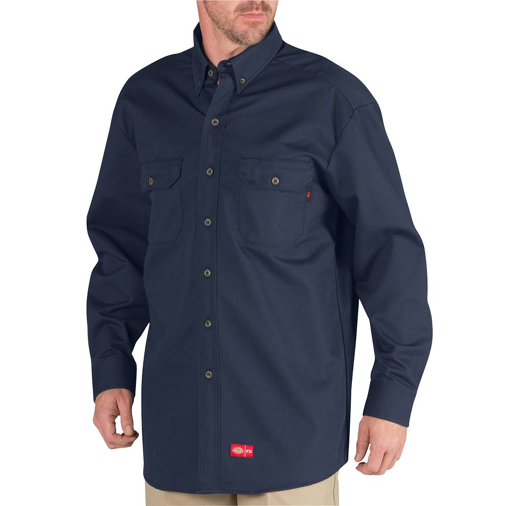Men's Dickies Flame-Resistant Button-Down Shirt