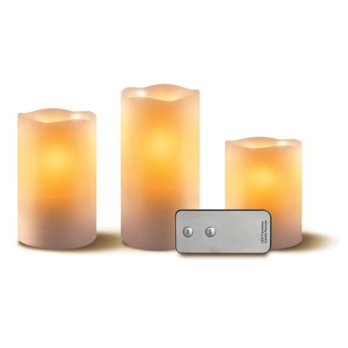 Apothecary & Company Cinnamon Led Candle & Remote 4 Piece Set by Kohl's