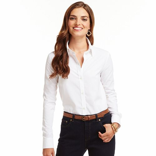 No iron ladies shirts blouses lace henley blouse for No iron white shirt womens