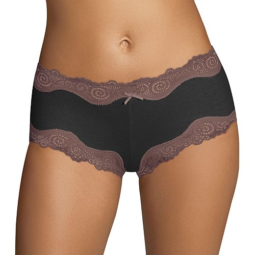 Maidenform® Scalloped Lace-Trim Modal Cheeky Hipster 40837 - Women's