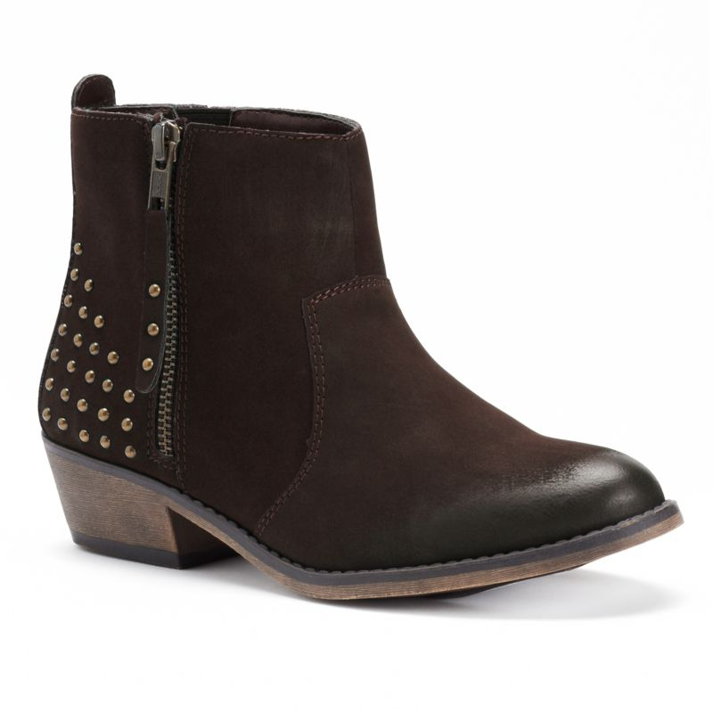 brown ankle boots kohl s