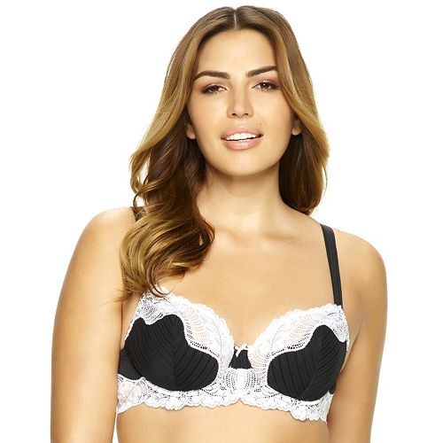 Paramour by Felina Bra: Stripe Delight Unlined Demi Bra 115353