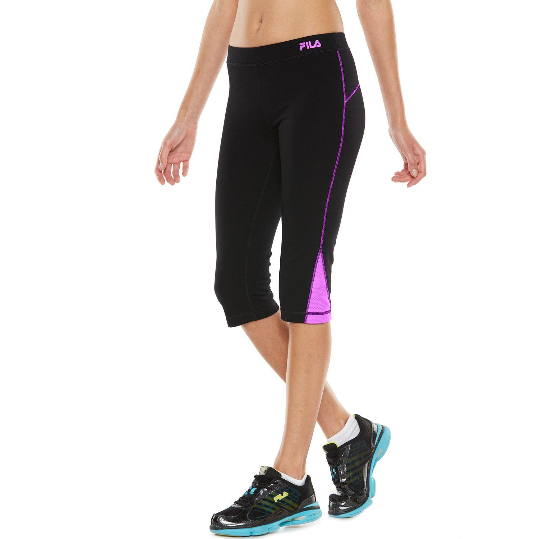 Womens FILA SPORT? Colorblock Active Capri Yoga Leggings
