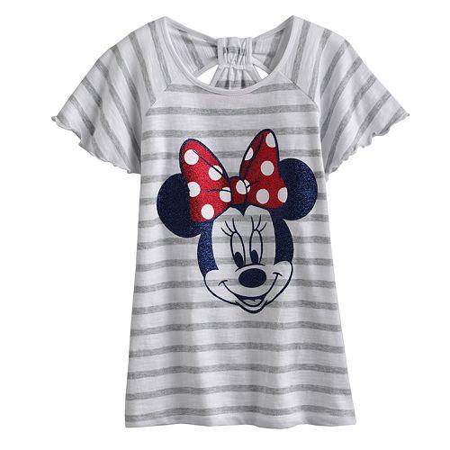 9da8e5e1809c Disney Minnie Mouse Striped Bow-Back Tee by Jumping Beans® - Girls 4-7