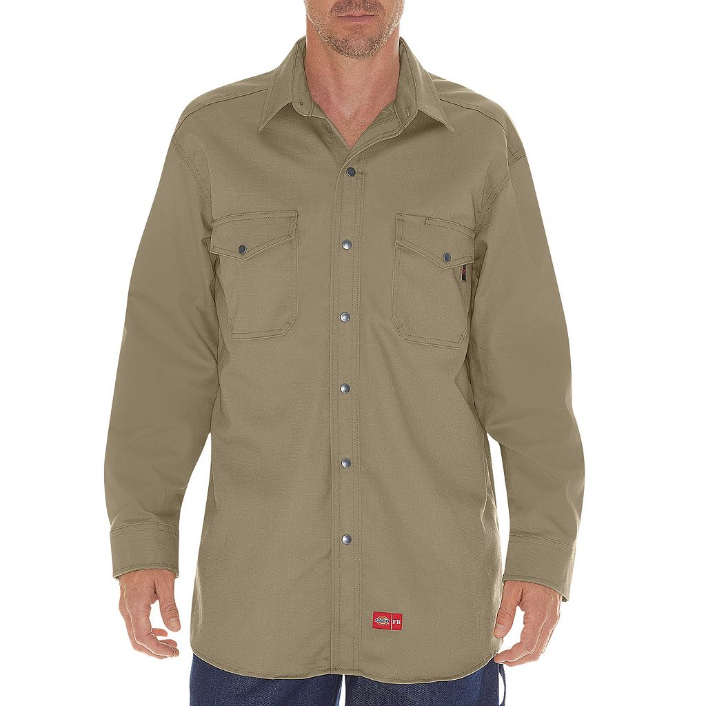 Men's Dickies Flame-Resistant Snap-Down Shirt