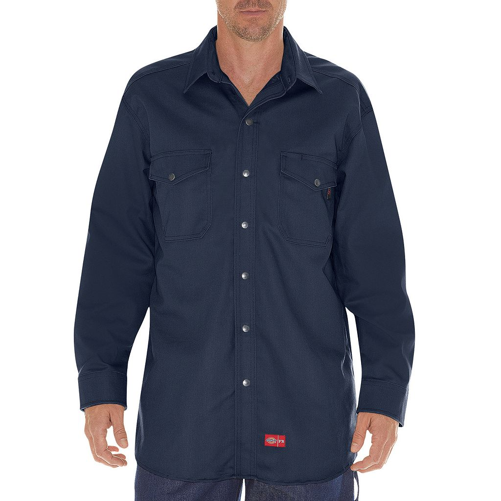 Men's Dickies Flame-Resistant Snap-Down Shirt