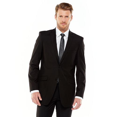 Men's Adolfo Slim-Fit Black Suit Jacket