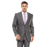 Men's Adolfo Slim-Fit Gray Sharkskin Suit Jacket