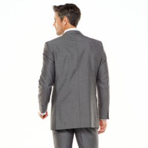 Men's Adolfo Slim-Fit Gray Sharkskin Suit Jacket