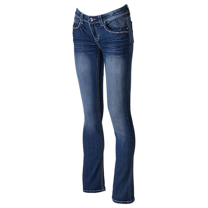 Hydraulic Studded Bootcut Jeans - Juniors (Blue)