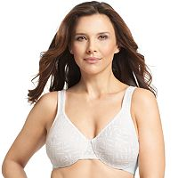 Olga Bra: Sheer Leaves Lace Full-Figure Full-Coverage Minimizer Bra 35519 - Women's