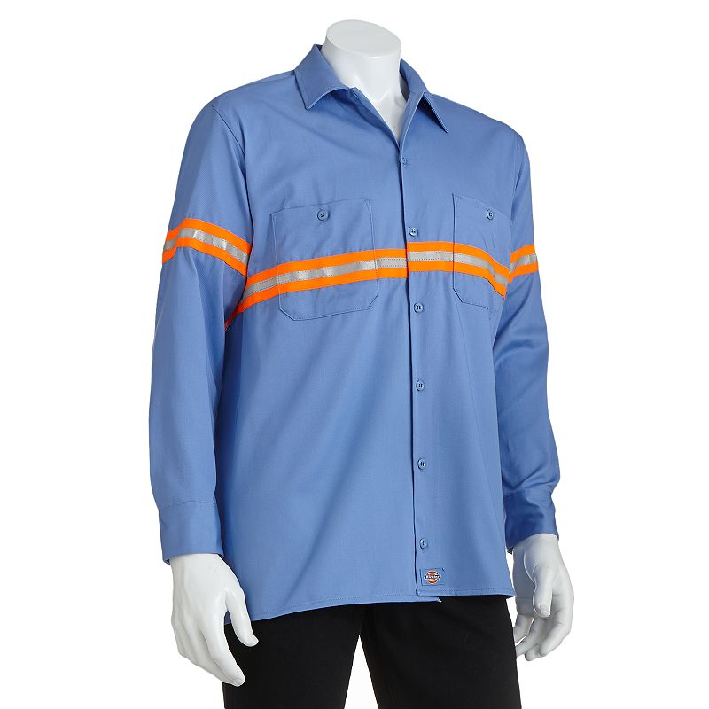 Dickies Enhanced Visibility Button-Down Work Shirt - Men