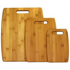 Oceanstar 3 pc Large Bamboo Cutting Board Set