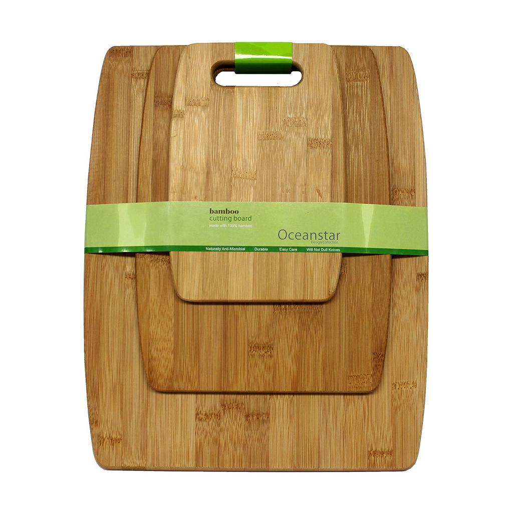 Oceanstar 3-pc. Large Bamboo Cutting Board Set