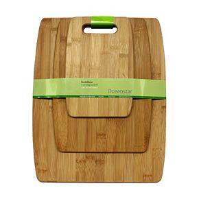 Oceanstar 3-pc. Large Bamboo Cutting Board Set