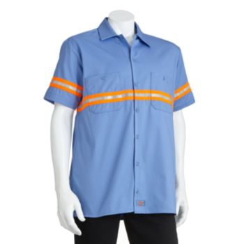 Men's Dickies Enhanced Visibility Button-Down Work Shirt