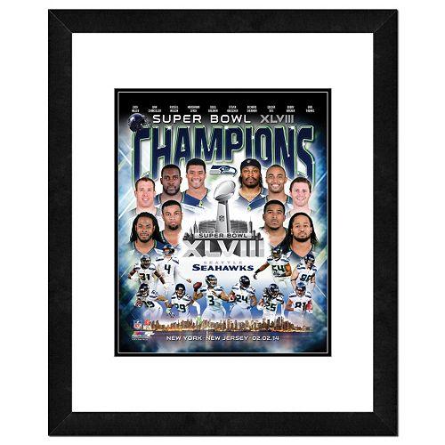 Seattle Seahawks Super Bowl XLVIII Champions Composite Framed 22
