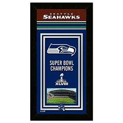 Seattle Seahawks Super Bowl XLVIII Champions 14.5' x 27.5' Framed Banner