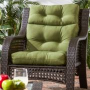 Greendale Home Fashions Outdoor High-Back Chair Cushion