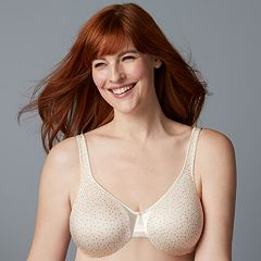 Olga Bra: Signature Support Satin Full-Figure Full-Coverage Bra 35002 - Women's