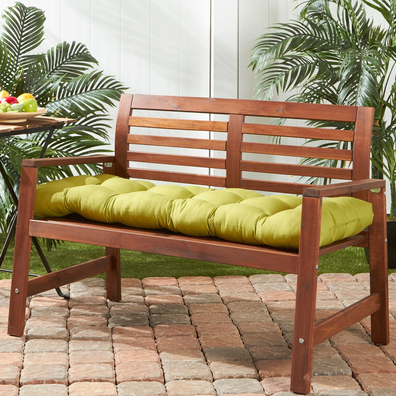 Simple Greendale Home Fashions Outdoor Porch Swing or Bench Cushion Long