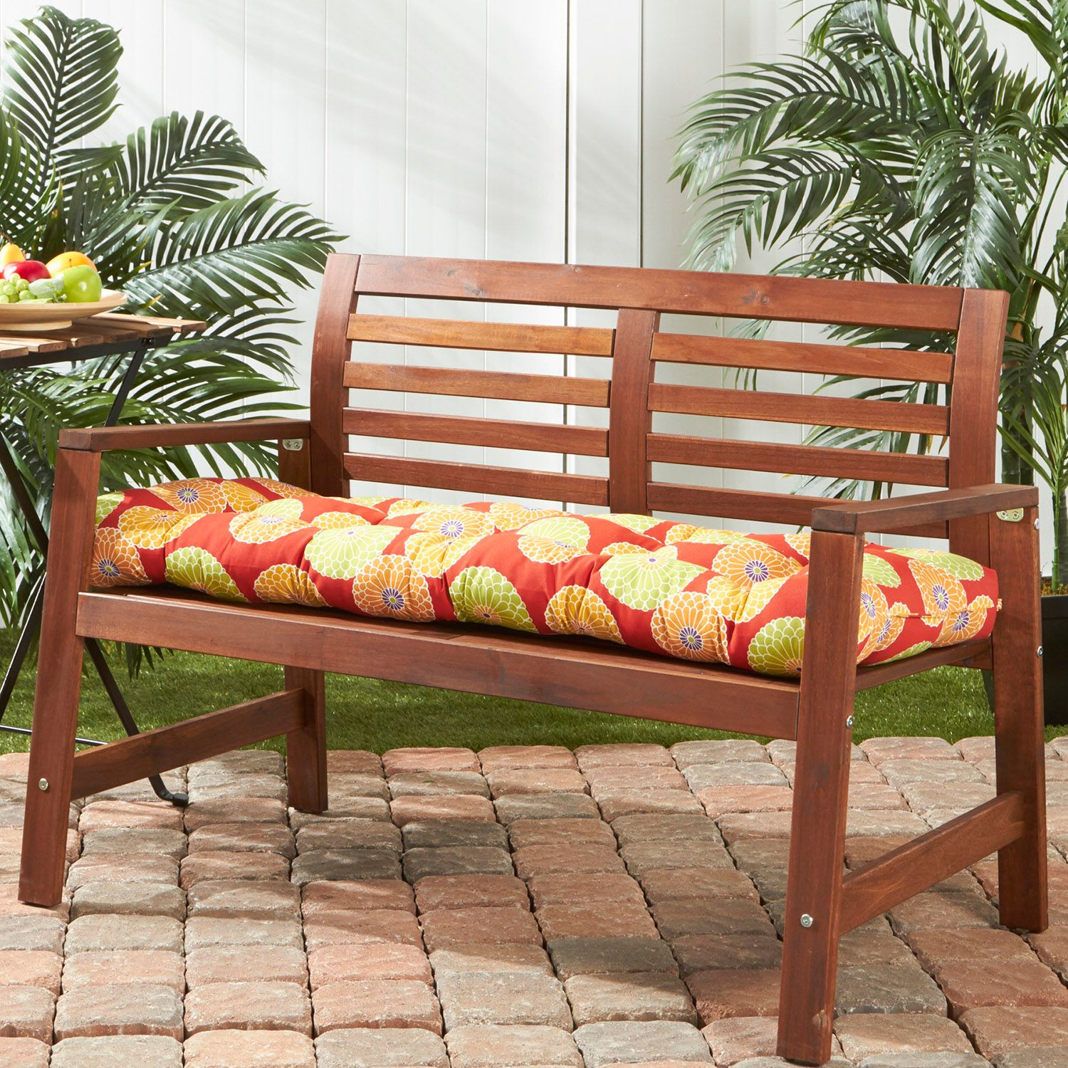 Charmant Greendale Home Fashions Outdoor Porch Swing Or Bench Cushion   Long