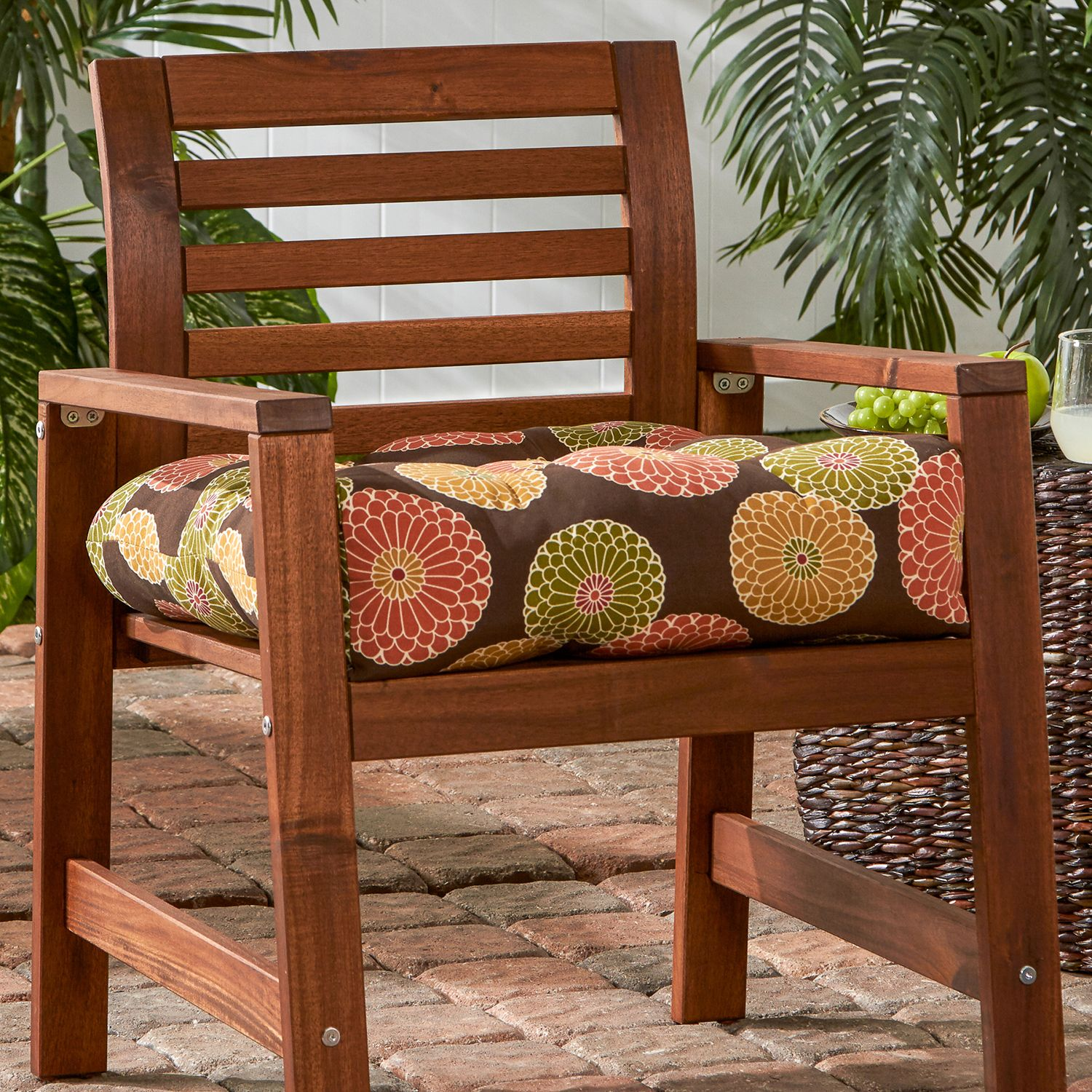 greendale home fashions outdoor sunbrella dining chair cushion