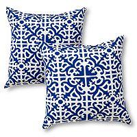Greendale Home Fashions 2 pkSquare Outdoor Decorative Pillows