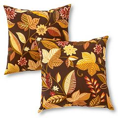 Greendale Home Fashions 2 pkSquare Outdoor Decorative Pillows