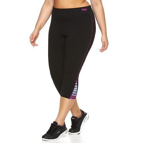 6a0d576f8451 Plus Size FILA SPORT® Colorblock Active Capri Yoga Leggings