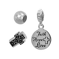 Individuality Beads Sterling Silver Cross Bead & Charm Set