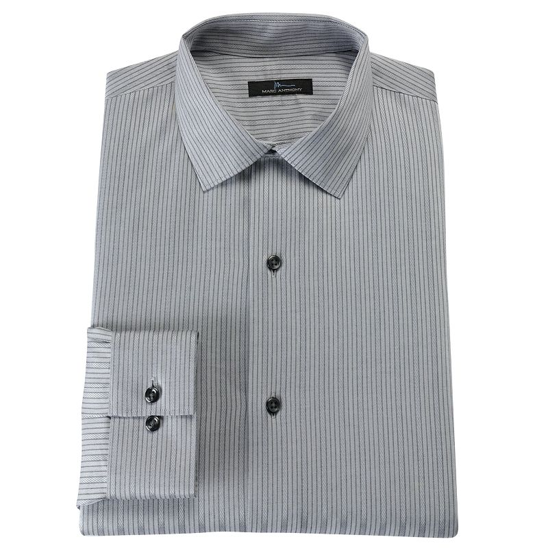Marc anthony slim fit tonal striped easy care spread for Tony collar dress shirt