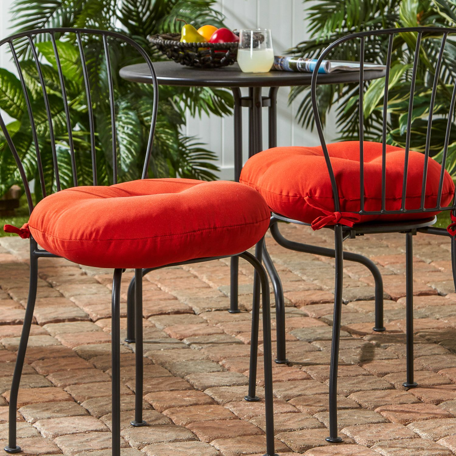 Beautiful Round Outdoor Bistro Cushions Large