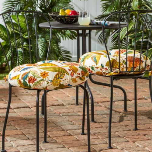 Greendale Home Fashions 2-pk. Round Outdoor Bistro Cushions – 18""