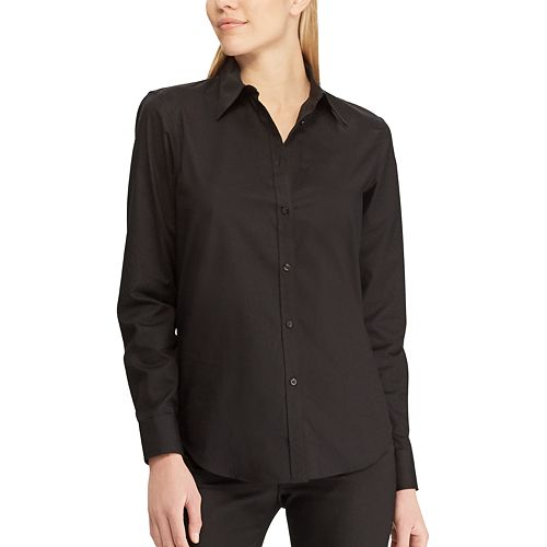 Women 39 s chaps solid no iron shirt for Chaps shirts on sale