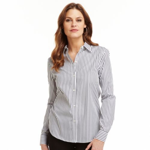 Non iron shirts are undeniably practical. They are also, however, undeniably stylish. Consider men's, women's, or big and tall options for work or play.
