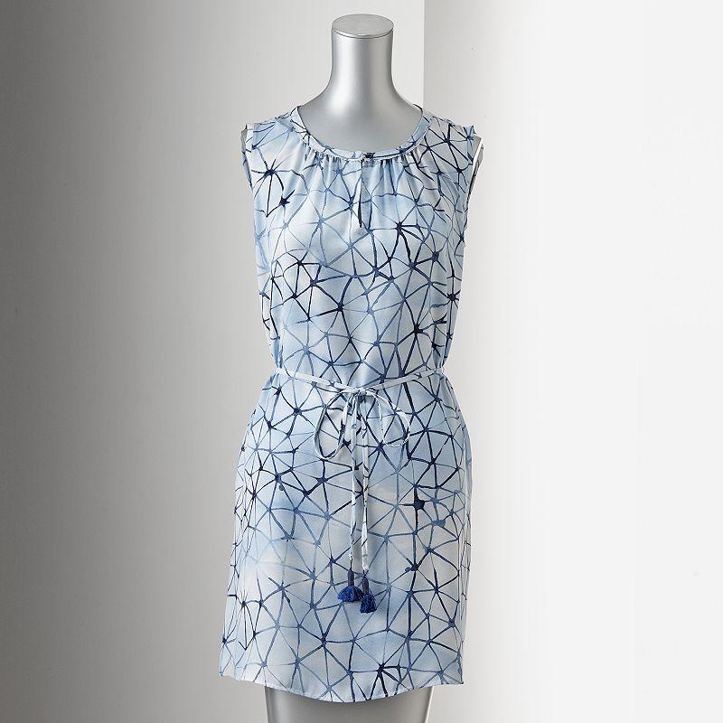 Simply Vera Vera Wang Print Shift Dress - Petite