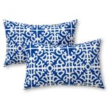 Greendale Home Fashions 2 pkOblong Outdoor Decorative Pillows