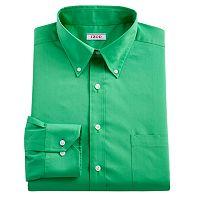 Men's IZOD Regular-Fit Plaid Stretch Dress Shirt - Men