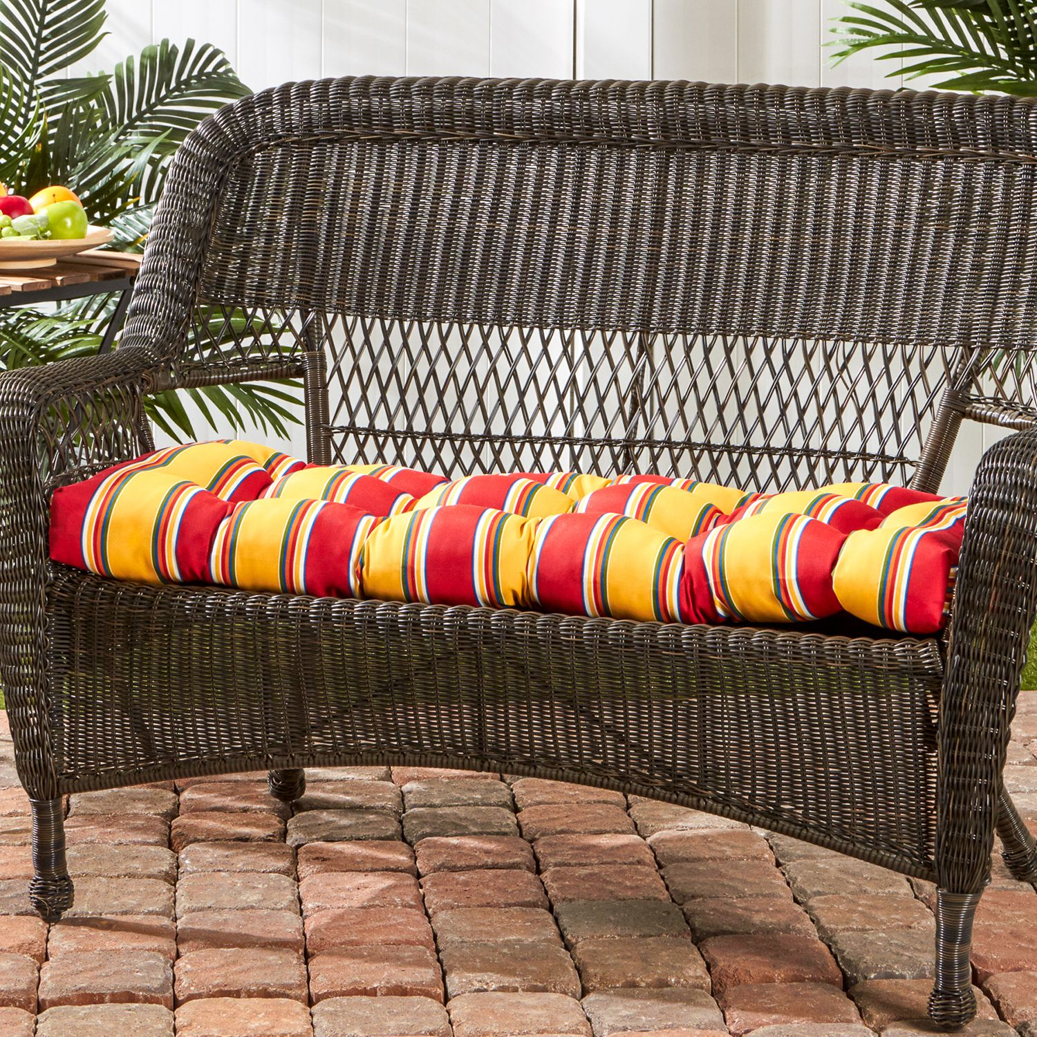 Simple Greendale Home Fashions Outdoor Porch Swing or Bench Cushion Short
