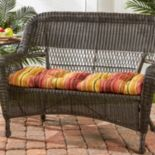 Greendale Home Fashions Outdoor Porch Swing or Bench Cushion - Short